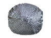 TEXTURED PLEATED PILLOW - ROUND GREY