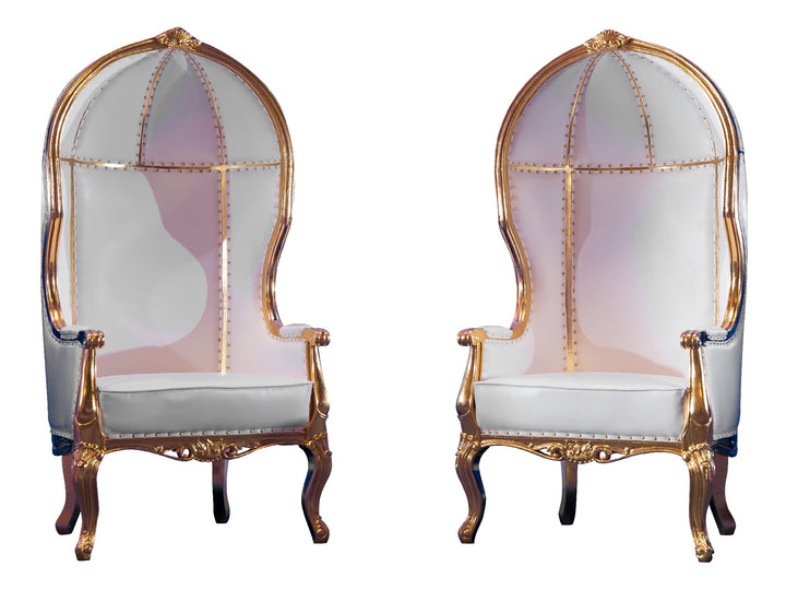 VERSAILLES THRONE CHAIR PAIR - GOLD