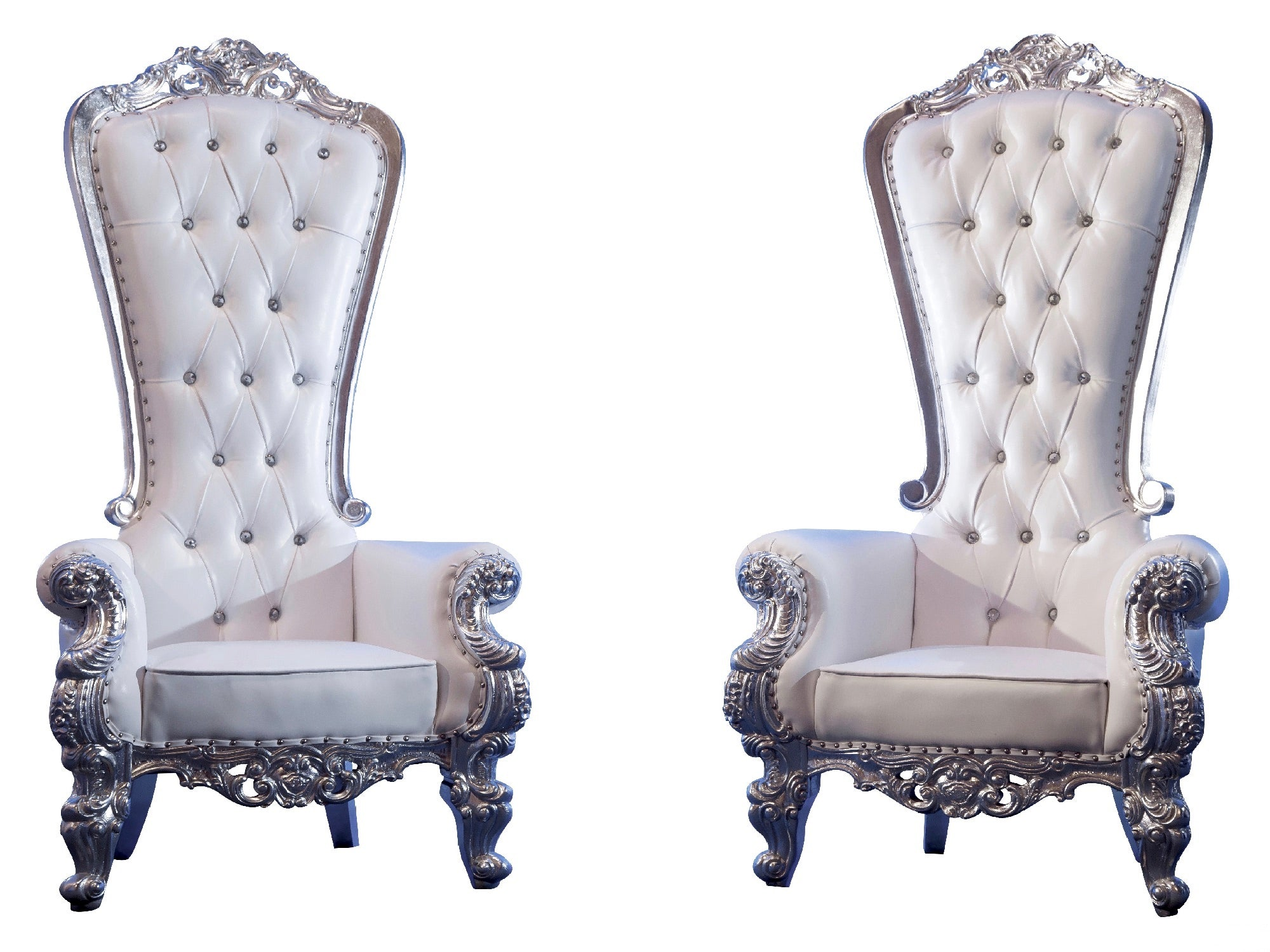 VICTORIA THRONE CHAIR - PLATINUM