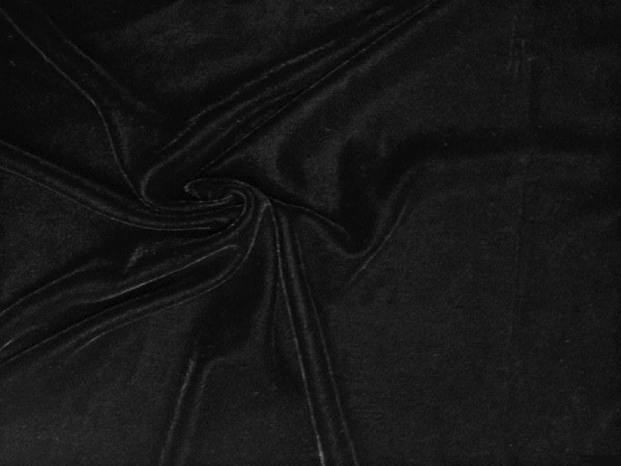 VELOUR DRAPE - BLACK