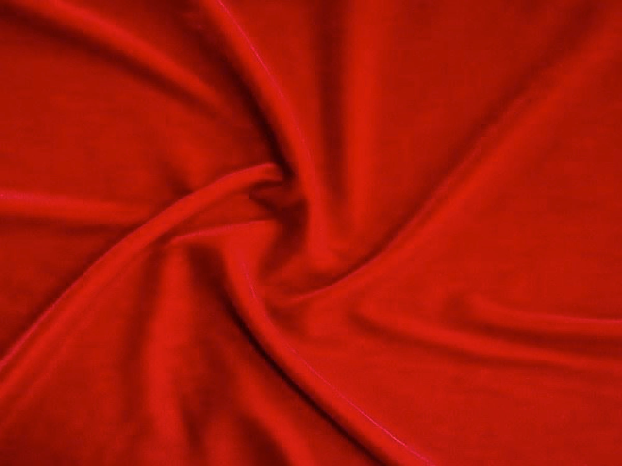 VELOUR DRAPE - RED