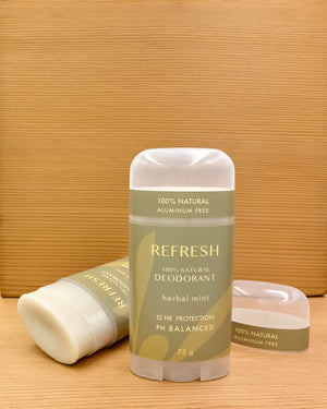 REFRESH | natural deodorant | herbal mint