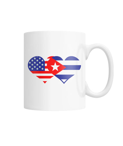 11 oz. Mug - We HEART Cuba White Coffee Mug