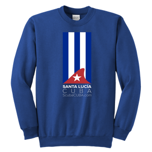 Youth Crewneck Sweatshirt - Classic Cuban Flag with shark fin - Sta Lucia