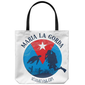 Maria la Gorda Tote - Diver & Turtle on Cuban Flag