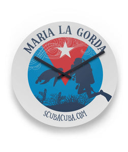 "Maria la Gorda Turtle - 11"" Round Wall Clock"