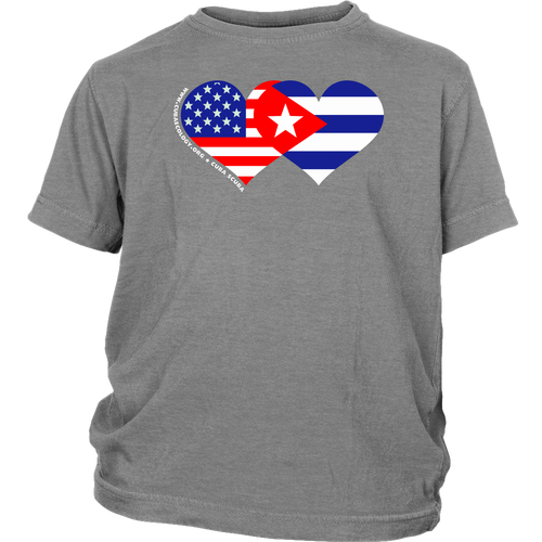 Youth T shirt - We HEART Cuba