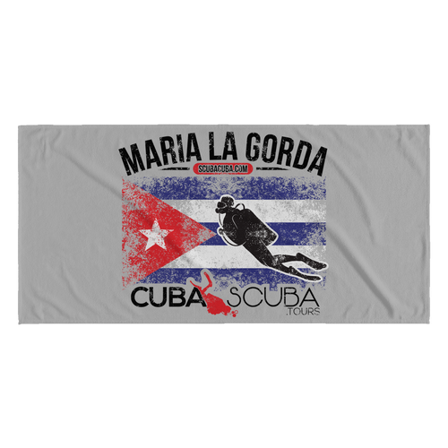 Maria La Gorda Beach Towel - Cuban Flag