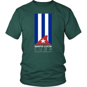 Ladies / Mens T-shirt - Sta Lucia Shark fin flag