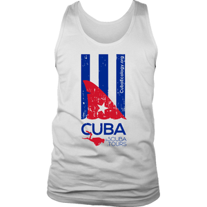 Men's Tank - Cuba Scuba Shark Fin Flag