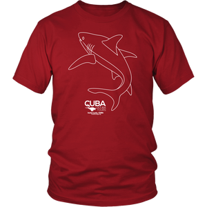 Ladies / Mens T-shirt - Shark Outline - Sta Lucia