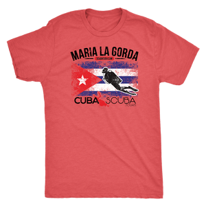 Men's Maria La Gorda Tee - Cuban Flag (Black Font)