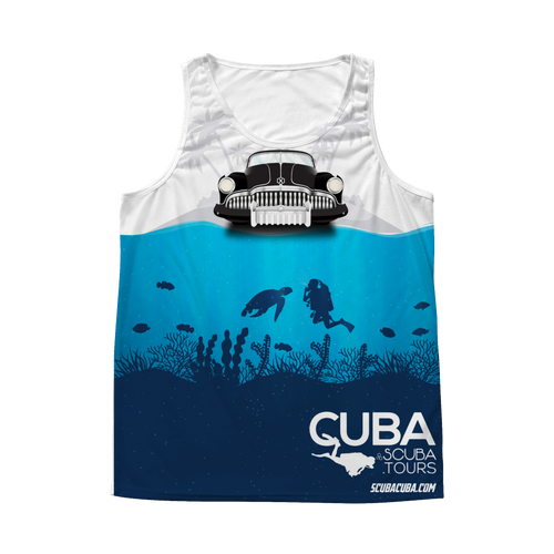 Men's Tank - Antique Car with Diver - ALL OVER PRINT