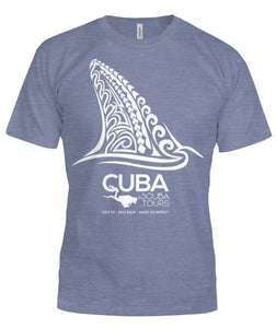 Ladies/Men's Tee: CUBA SCUBA! Tribal Fin