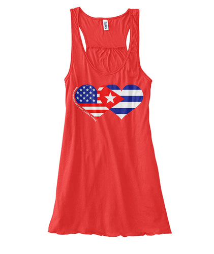Women's Flowy Tank - We HEART Cuba