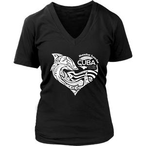 Ladies' Tee - Santa Lucia White Heart