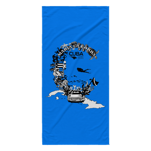 Maria La Gorda Beach Towel - C is for Cuba