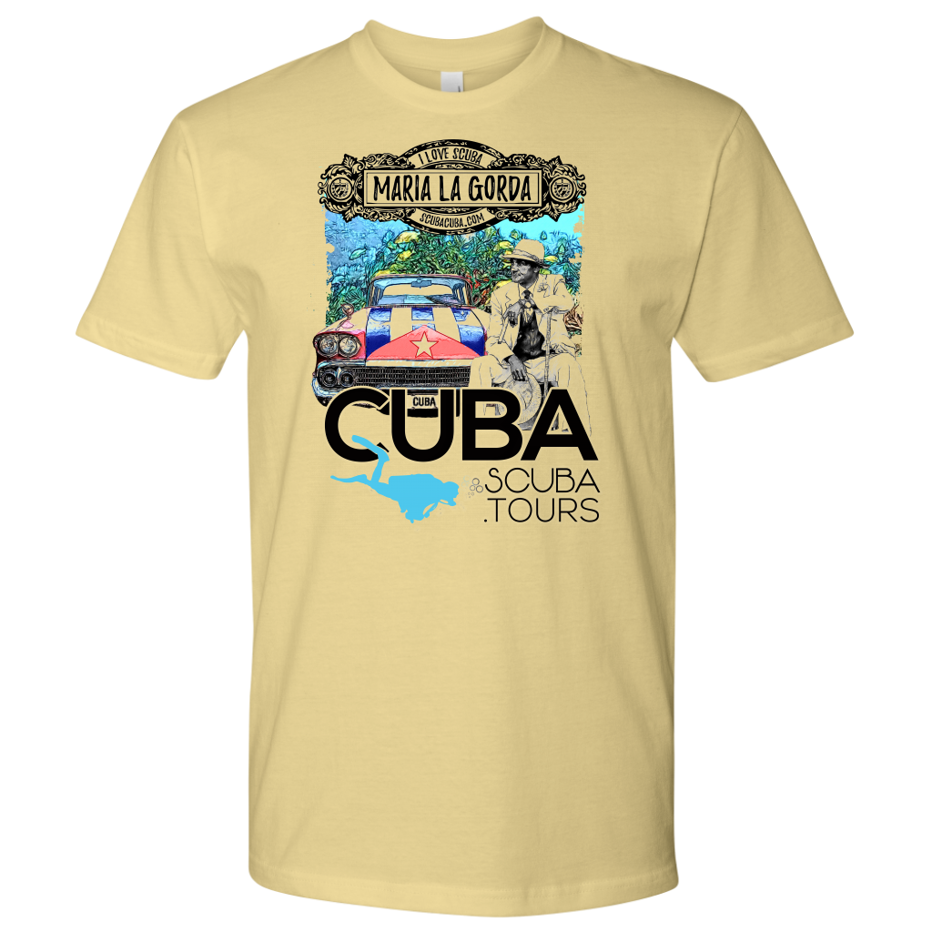 Men's T-shirt: Maria la Gorda Antique Car