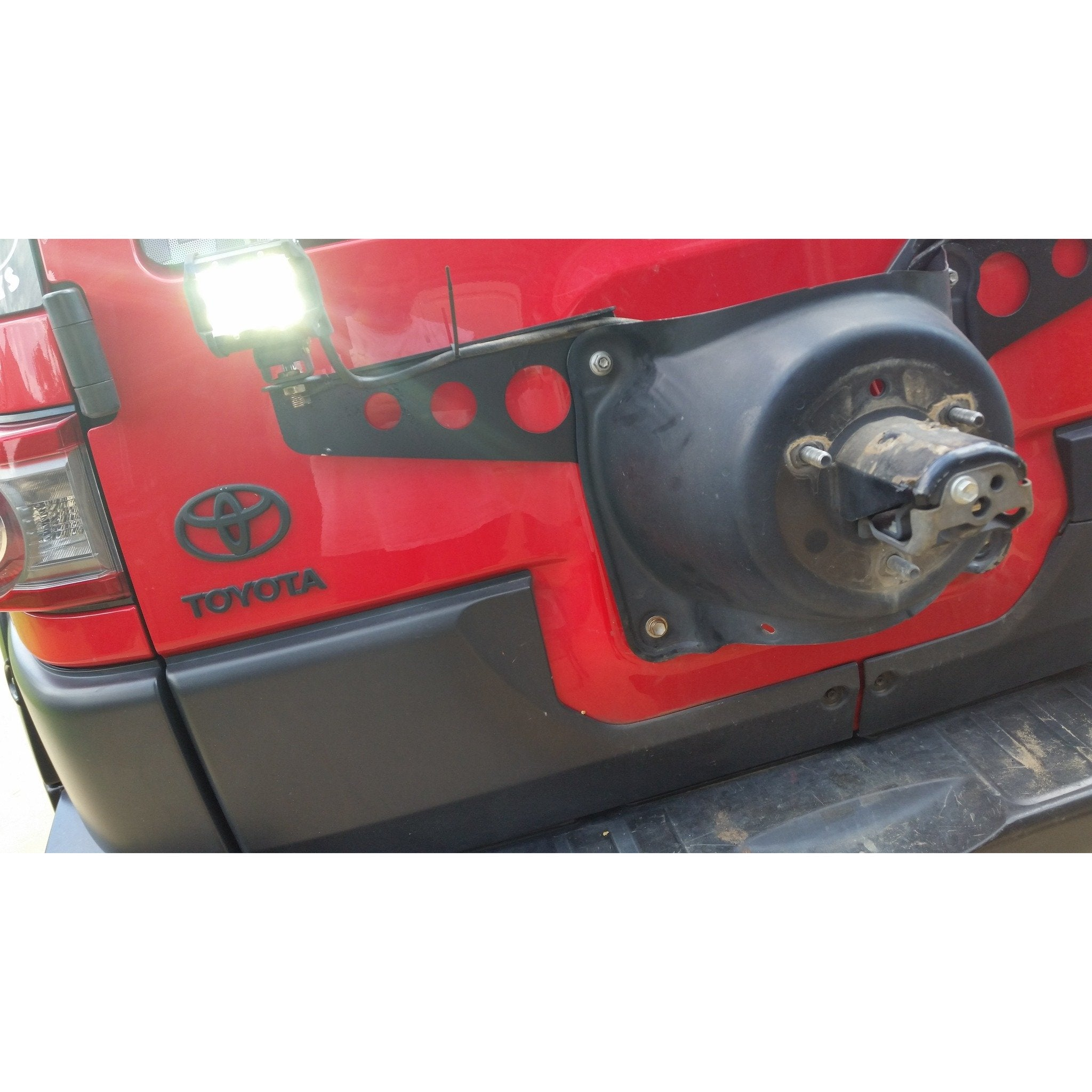 2007-2014 FJ CRUISER REAR TAILGATE LIGHT MOUNTS - DB Customz