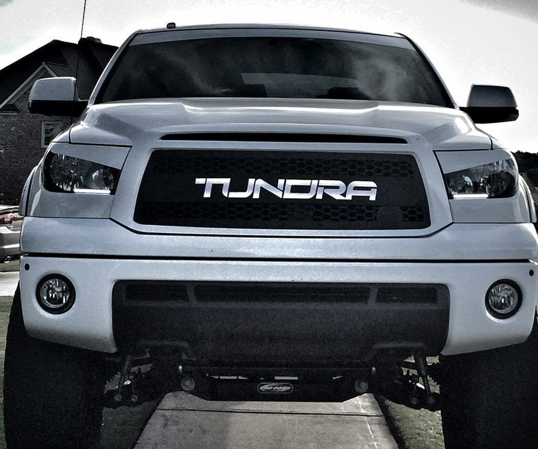 2010 - 2013 Tundra Grille Insert with Color-Matched Lettering 10TNDV113 - DB Customz