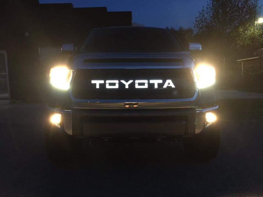 2010 - 2013 Tundra Grille Insert with Backlit Lettering10TUNV213 - DB Customz