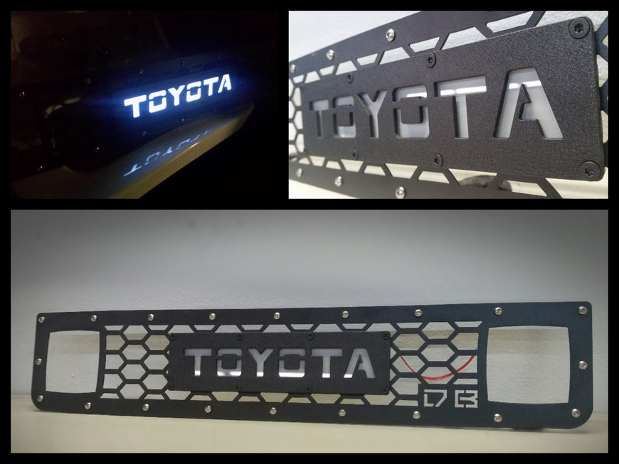 2007 - 2014 FJ CRUISER  / Back LIT Lettering / DOUBLE CUBE GRILLE INSERT 07FJV214 - DB Customz