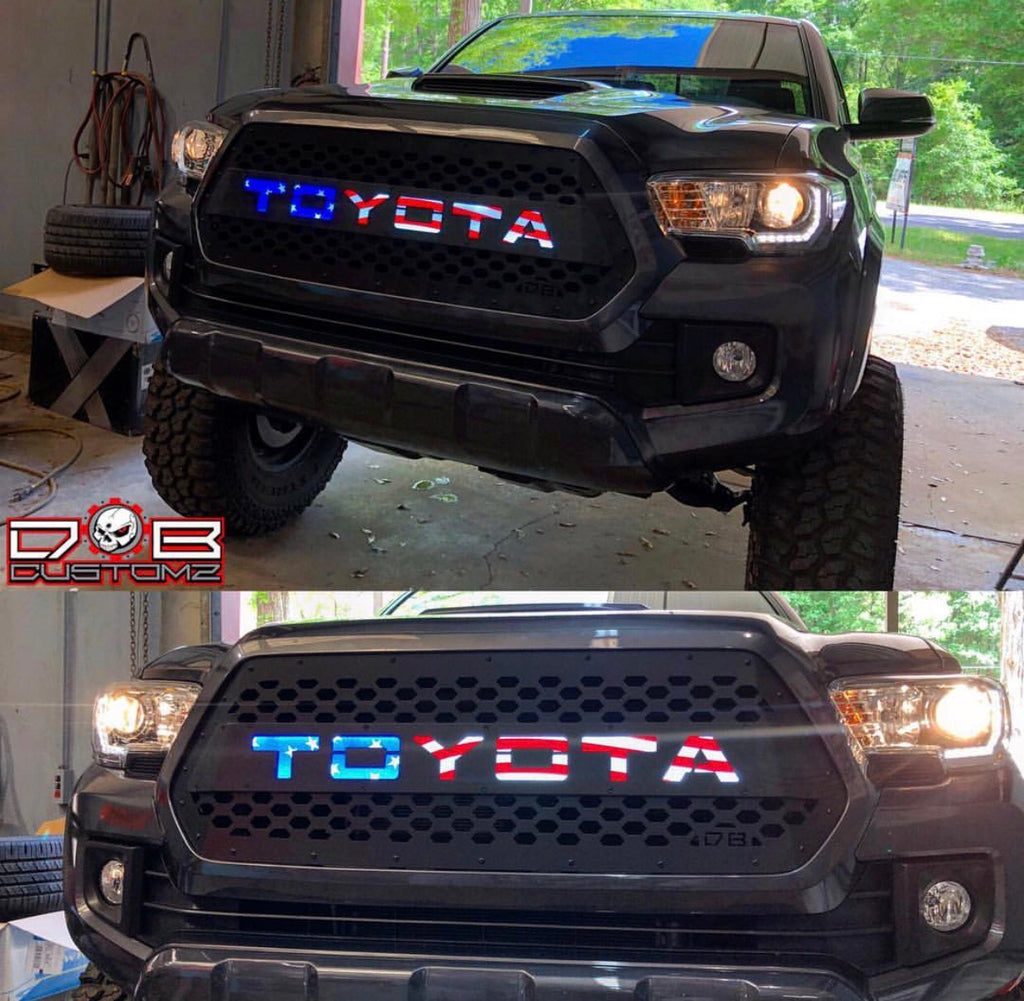 "2016 Toyota 4Runner Accessories >> 2016 - 2019 Tacoma Grille Insert ""The Patriot"" 16TACV717 ..."