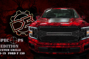 "2018 - 2019 Ford F150 Full Grille Replacement with 30"" Curved LED Bar - DB Customz Offroad Outfitter"