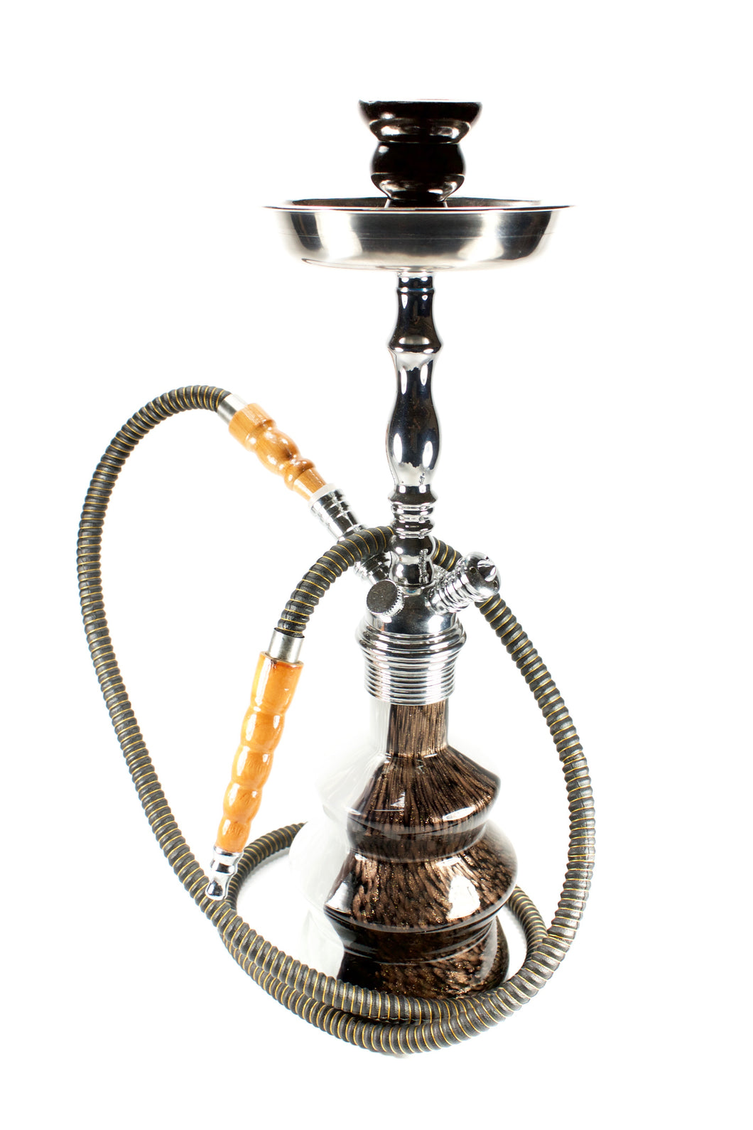 Glittered Black & White Hookah