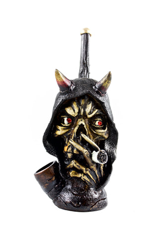 Ceramic Smoking Demon Head Hand Pipe