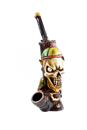Ceramic Kid Skull Hand Pipe