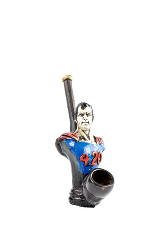 Ceramic Superman Hand Pipe