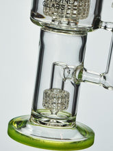 "12"" Slyme Double Matrix Dab Rig By Diamond Glass"