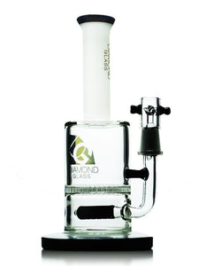 "8"" Inline To Honeycomb Oil Rig by Diamond Glass"