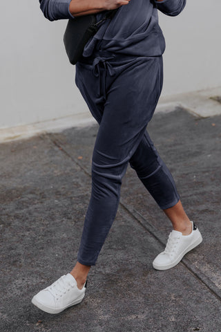 D-Luxe Velour Track Pant