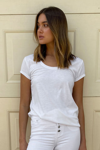 Abbie Scoop Neck Tee