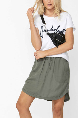 Olivia Stepped Hem Mini Skirt
