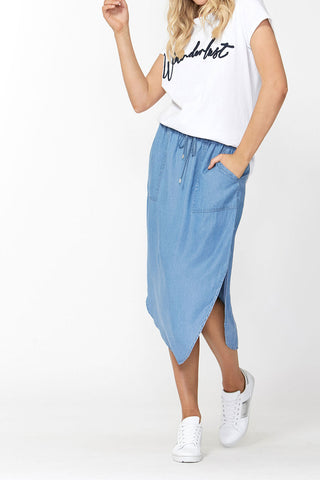 Aubrey Patch Pocket Midi Skirt