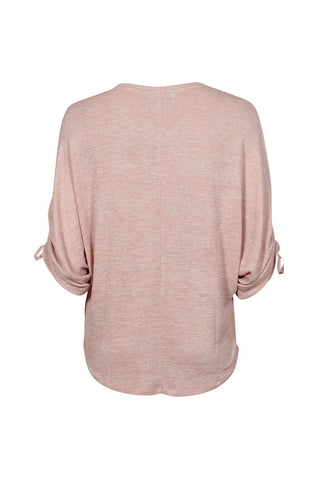 Annabel Ruched Sleeve Tee