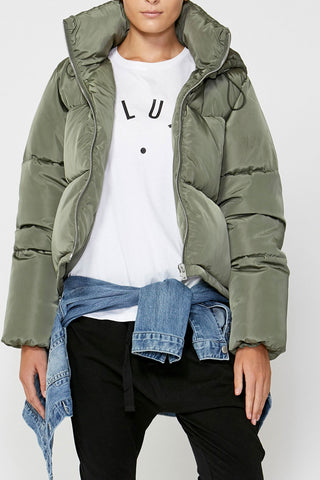 Luxe Hooded Puffer Jacket