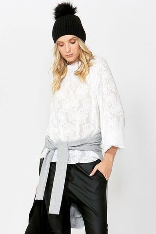 Arabella Floral Burnout Blouse