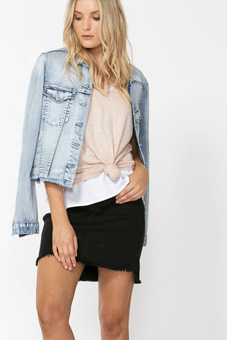 Georgina Step Hem Mini Skirt