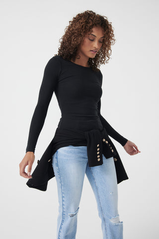 Fitted Crew Long Sleeve Top