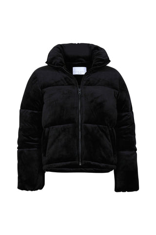 Luxe Velour Puffer Jacket