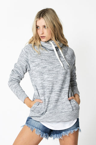 Luxe High Neck Hoodie