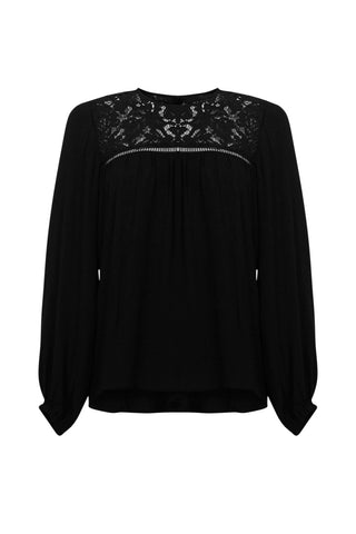 Andrea Lace Insert Blouse
