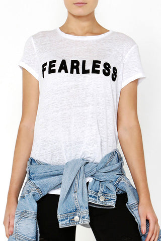 Fearless Flocked Tee