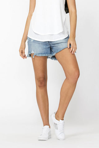 Malibu Distressed Denim Short