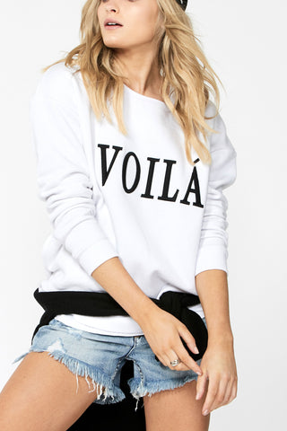 Voila Embroidered Sweat