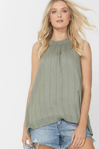 Daisy Textured High Neck Top